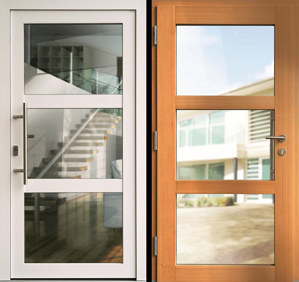 Haustür holz glas  Haustüren aus Holz-Alu | KOWA